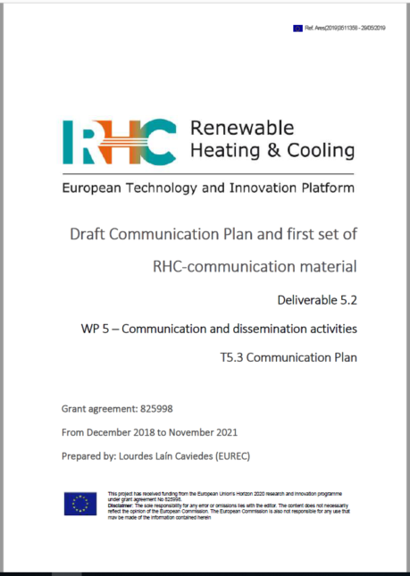 D 5.2 Draft Communication Plan and first set of RHC-communication material