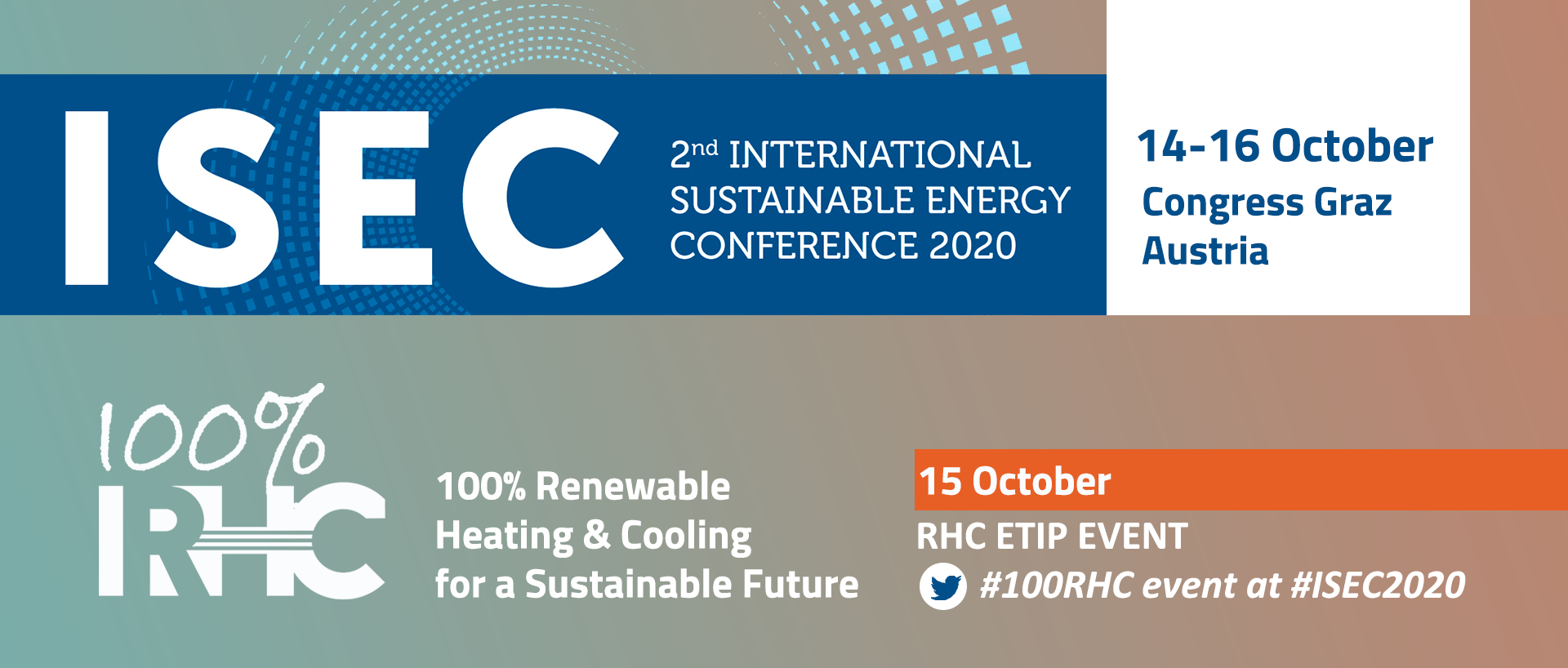 100% RHC EVENT 2020 & the International Sustainable Energy Conference – ISEC 2020