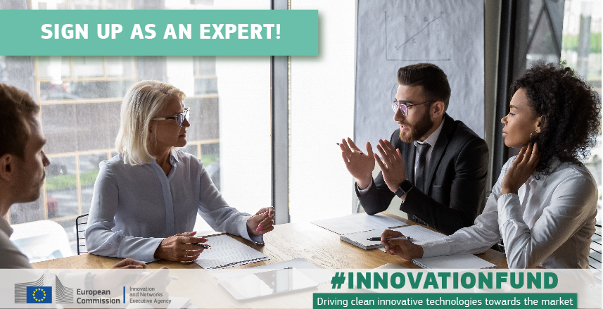 Innovation Fund: Join us as an expert!