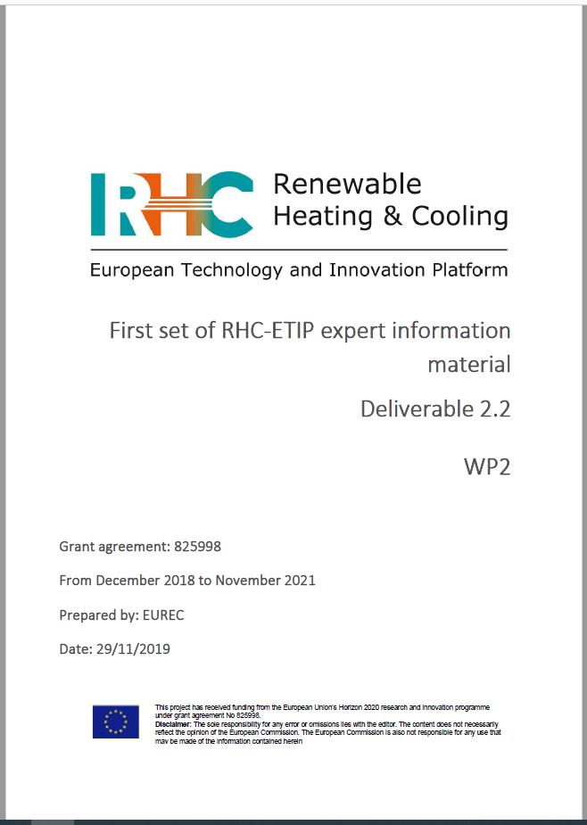 First set of RHC-ETIP expert information material - Deliverable 2.2