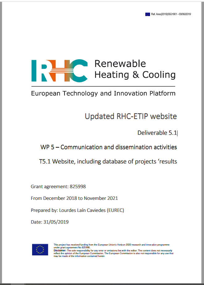 Updated RHC-ETIP website Deliverable 5.1