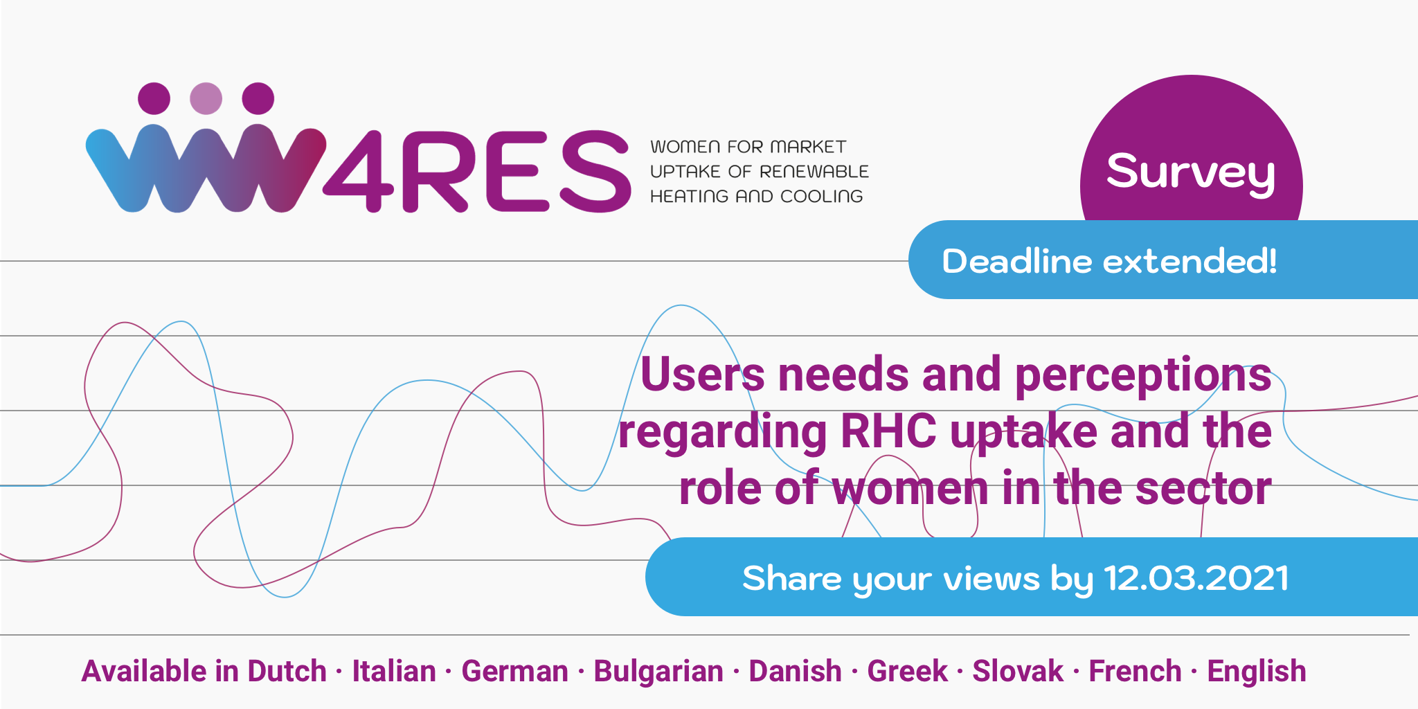 W4RES Survey on users needs and perceptions regarding RHC uptake and the role of women in the sector